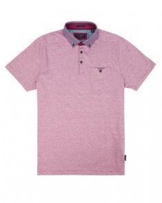 ba271ab347 Patterned collar polo - Pink | Tops & T-Shirts | Ted Baker #