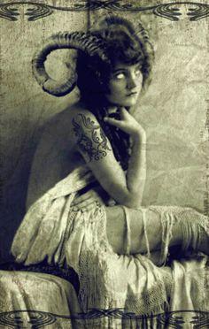 Faun of the dead Memento Mori, Arte Horror, Angels And Demons, Gothic Art, Dark Beauty, Portraits, Faeries, Dark Art, Creepy