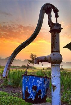 Old farm water pump