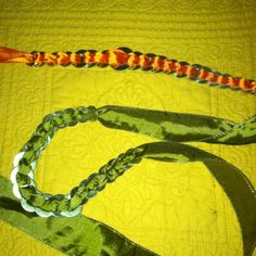 Wrap bracelet and necklace- washers and ribbons