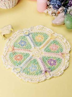 Crochet Doilies - Floral Doily Crochet Patterns - Free Crochet Pattern -- Shoelace Doily would be pretty for Easter
