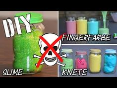DIY Fingerfarbe – Slime – Knete super easy selbst gemacht | KIDS | dough | finger paint | mamiblock - YouTube