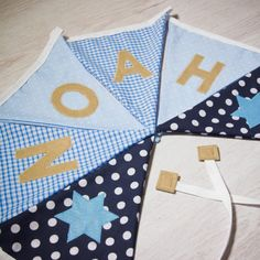Handmade star flag bunting, personalised with any name. Each flag is carefully produced by hand therefore can be made to suit your own ideas. Fabric Bunting, Buntings, Kids Gifts, Baby Gifts, Personalised Bunting, Star Designs, Christening, Color Combos, Nursery Decor