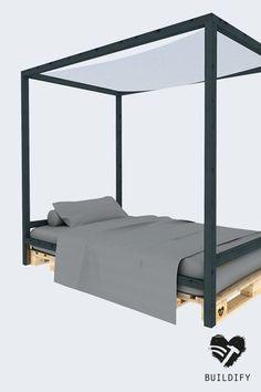 Schlicht und zeitlos selbstgebaute m bel im for Bett industriedesign