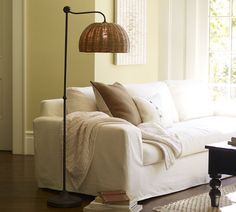 Harlow Floor Lamp | Pottery Barn - no longer available, but I wonder if I could replicate the look.  Love the organic yet refined look of it.
