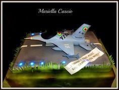 F 16 Airforce  Cake by Mariella Cascio