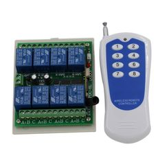 23.76$  Watch now - http://alis4z.shopchina.info/go.php?t=32801950981 - Latest 8 Channel RF Wireless Remote Control Switch & Remote Control System Receiver Transmitter 315/433 8CH Relay NC NO COM 23.76$ #magazineonline