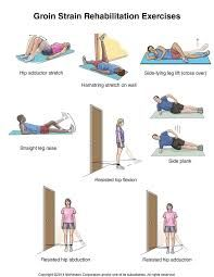 Exercises: hip adductor stretch Hamstring stretch on wall side-lying leg lift (cross over) straight leg raise resisted hip flexion resisted hip extension hib abduction and hip adduction Qi Gong, Lying Leg Lifts, K Tape, Hip Flexor Exercises, Stretching Exercises, Flexibility Exercises, Knee Stretches, Straight Leg Raise, Back Pain Remedies