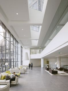lobby - nice overhead condition elongating the space