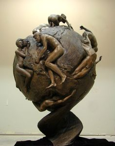 by Benjamin Victor - Where Cultures Meet 2010 - Bronze - Height 44 - Los Angeles California 5