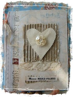 Over the rainebeau by Lorraine. Altered journal.