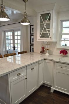 The Cape Cod Ranch Renovation ***Instead of island, make more room in Kitchen? | Great Lakes Stoneworks is one of the areas finest fabricators of granite marble! They do fabrication and installation of granite, marble, quartz, silestone! Call (586) 294-7930 or visit www.glstoneworks.com for more information!