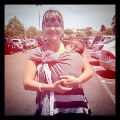 Cute mama + baby #babywearing in #sakurabloom via instagram