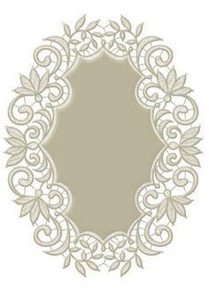 heirloom  oval cards | Spellbinders Heirloom Oval dies