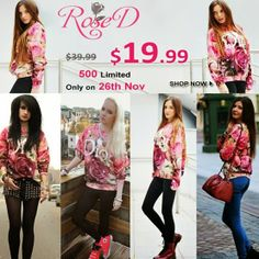 "Shopping with Glenz: Romwe ""Rose D"" flash sale, only 24 hours!"