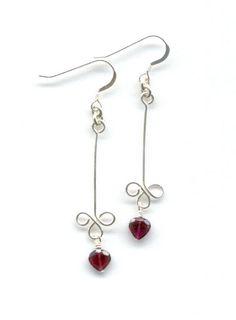 Sterling silver earrings, bead earrings, handmade beaded earrings
