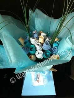 Luxury Blue Baby Sock Bouquet