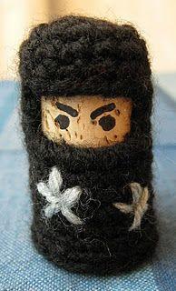 Cork and Crochet: Ninjas pattern