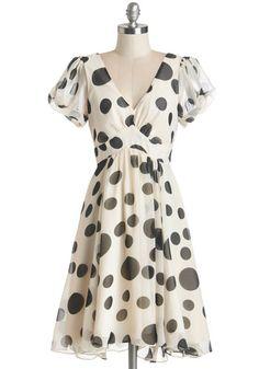 1930s ruffle sleeve polka dot dress - Sweeten the Spot Dress $89.99 AT vintagedancer.com