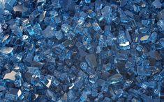 Cobalt Blue Fireplace Glass Crystals