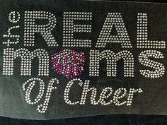The Real Moms of Cheer BB Rhinestone Transfer Iron On Hot Fix Motif Bling Applique - DIY *** Be sure to check out this awesome item.