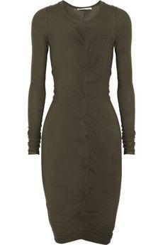Hill ruched cotton-jersey dress. Net a porter.
