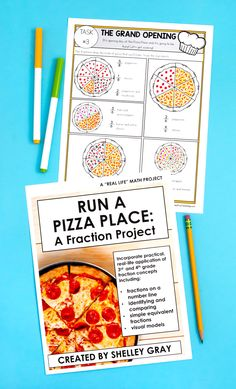 Are you looking for a way to reinforce fraction concepts in an engaging way that helps your students make connections? 4th Grade Fractions, Teaching Fractions, Equivalent Fractions, Third Grade Math, Teaching Math, Math Math, Pizza Fractions, Fourth Grade, Math Resources