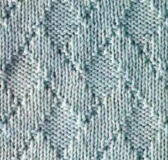 Рельефный узор из ромбов (вязание спицами, схема)