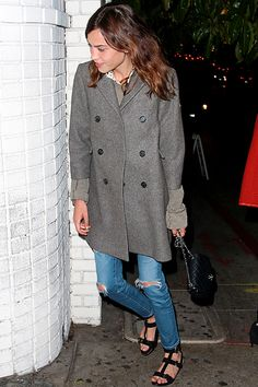 Alexa Chung arriving at Chatea Marmont in Los Angeles - April 27, 2014