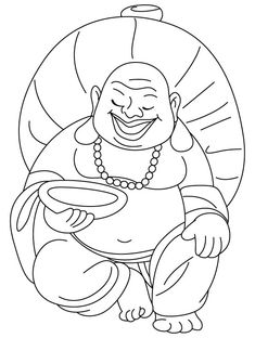 Laughing Buddha Coloring Pages Printable