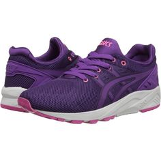 new product b963f c69b4 Onitsuka Tiger by Asics Gel-Kayano Trainer EVO Women s Shoes, Purple ( 73)  ❤ liked on Polyvore featuring shoes, athletic shoes, purple, running  training ...