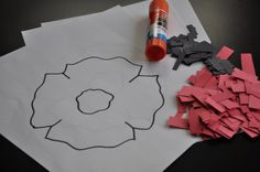This is a really easy and fun craft for all ages.  Older children can cut their own strips of paper and you can substitute tissue paper if you'd like. Tools needed: white computer paper paper…