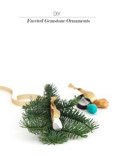 DIY Faceted Gemstone Ornaments || Jade and Fern