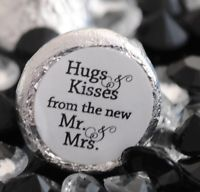 108 Hugs & Kisses from the new Mr. & Mrs. Hershey Kiss Wedding Stickers Favors Wedding Reception Favors, Creative Wedding Favors, Inexpensive Wedding Favors, Elegant Wedding Favors, Edible Wedding Favors, Wedding Kiss, Wedding Favors For Guests, Bridal Shower Favors, Wedding Ideas