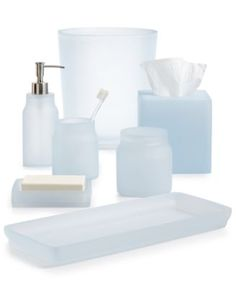Frosted Glass Bathroom Accessories