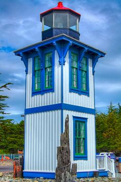 Historic Lighthouse in Eureka, California - vma. I would love to have a tiny house like this!