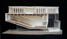 : Echo Park Schule für darstellende Kunst: Phase 4 - Hints for Women Auditorium Design, Auditorium Architecture, Theater Architecture, Interior Architecture, Interior Design, Model Architecture, Concept Architecture, Architecture Details, Sections Architecture