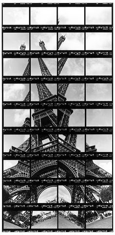 German artist Thomas Kellner has captured Eiffel Tower , the iconic symbol of France, then turned them into stunning contact sheet arts . A Level Photography, Experimental Photography, Landscape Photography Tips, Photography Projects, Creative Photography, Art Photography, Photography Tutorials, Creative Landscape, Urban Landscape