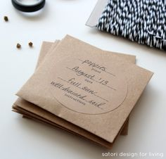 Imprimible de bolsitas de semillas // Create Your Seed Packets With Printable Labels