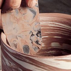Wheel Throwing Techniques --How to Make Agateware Vessels on the Pottery Wheel