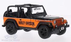 Jeep Wrangler Rubicon, schwarz/orange, Harley Davidson