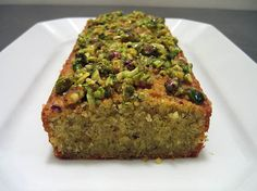 Pistachio cake without boxed mix or boxed neon green pudding.