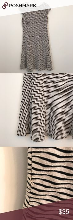 Anne Klein Zebra Print Dress Anne Klein dress with zebra style print. Really soft and comfortable to wear. Size 8. Bust is 18 across and length is 36. Has belt loops but doesn't come with a belt, you can add your own your they can be removed. Open to offers and 30% off bundles! Anne Klein Dresses