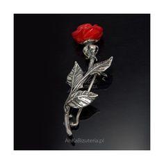 broszka srebrna róża Brooch, Jewelry, Fashion, Moda, Jewlery, Bijoux, Fashion Styles, Brooches, Schmuck
