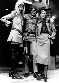 Betty Catroux, Yves Saint-Laurent, and Loulou de la Falaise ,1969