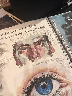 T̢̟̥͙̙̪̠ͥ̈́͒ͮ͒a̯̩̦͙ͯp̛̗̟͔͚ͥ͗̓̔̎ͫi̶̲̪̮͒̄ͫ̀́̚… – A Level Art Sketchbook - Water - Nathalie Menard A Level Art Sketchbook, Arte Sketchbook, Sketchbook Layout, Sketchbook Ideas, Portfolio D'art, Art Inspo, Art Hoe, Sketchbook Inspiration, Aesthetic Art
