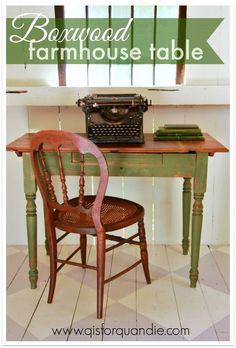 boxwood farmhouse table