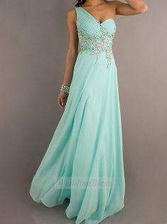 Menthe Prom longue mousseline de soie robe aligne par WeddingBless, $138.00