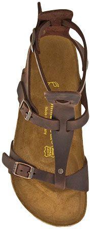 Womens Birkenstock Chania Gladiator Sandal (Habana Oiled Leather)