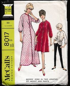 McCall's 8017 Misses Front Button Robe or Jacket by OutoftheConex